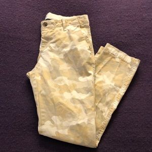 Camouflage Gap Girlfriend Chinos, Size 4